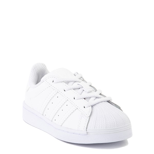 alternate view adidas Superstar Athletic Shoe - Baby / Toddler - White MonochromeALT5