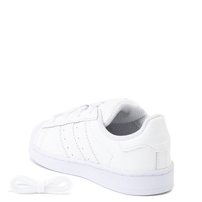 Alternate view of adidas Superstar Athletic Shoe - Baby / Toddler - White Monochrome