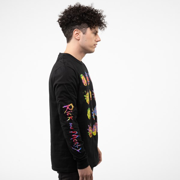 alternate view Mens Rick And Morty Long Sleeve Tee - BlackALT3