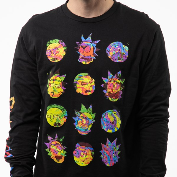 alternate view Mens Rick And Morty Long Sleeve Tee - BlackALT5