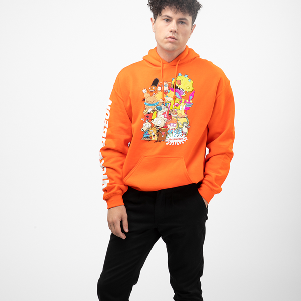 alternate view Mens Nickelodeon Peeps Hoodie - OrangeALT1