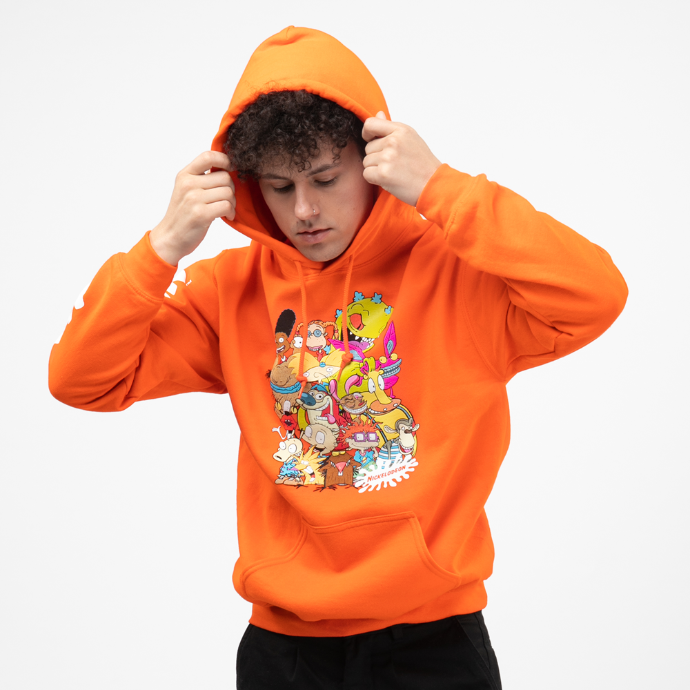 Mens Nickelodeon Peeps Hoodie - Orange