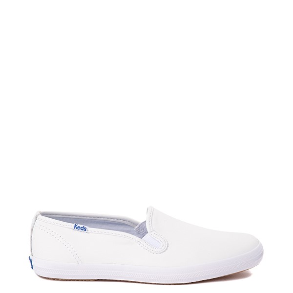 Main view of Womens Keds Champion Slip On Leather Casual Shoe - White