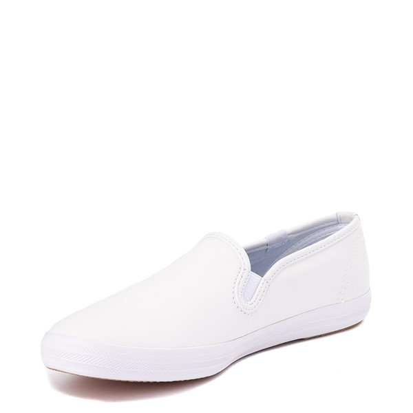 alternate view Womens Keds Champion Slip On Leather Casual Shoe - WhiteALT2