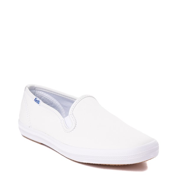alternate view Womens Keds Champion Slip On Leather Casual Shoe - WhiteALT5