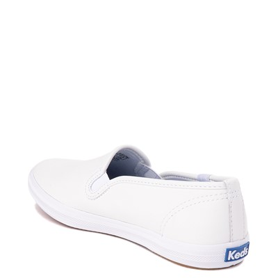 Alternate view of Womens Keds Champion Slip On Leather Casual Shoe - White