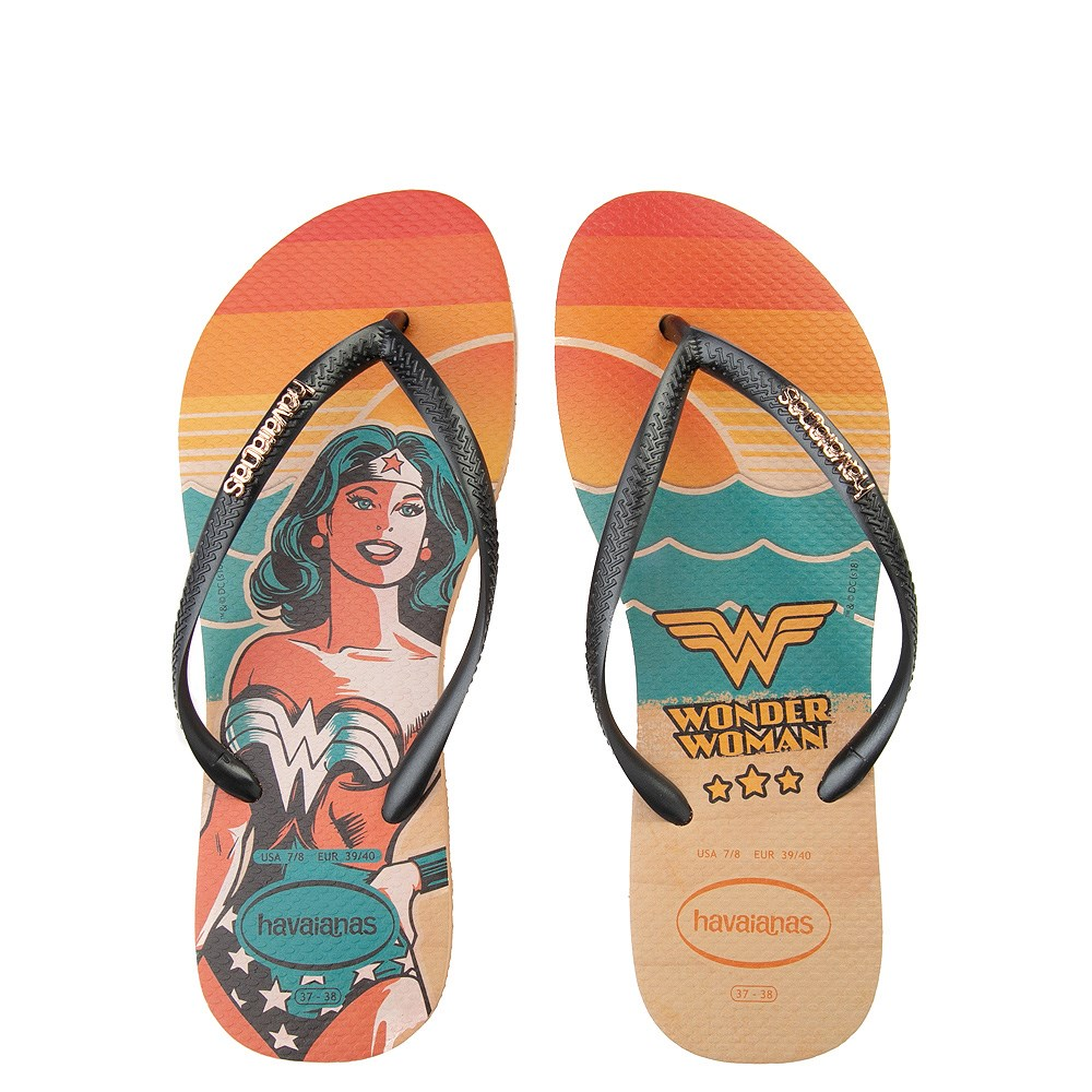 Womens Havaianas Wonder Woman Slim Sandal - Multi