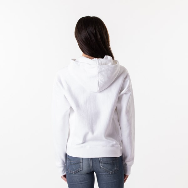 alternate view Womens Champion Reverse Weave Hoodie - White / GoldALT2