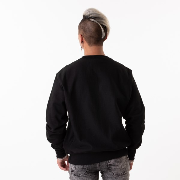 alternate view Mens Champion Reverse Weave Crew Sweatshirt - BlackALT1