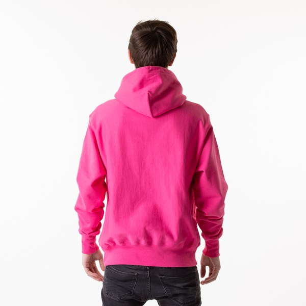alternate view Mens Champion Reverse Weave Hoodie - Reef PinkALT1