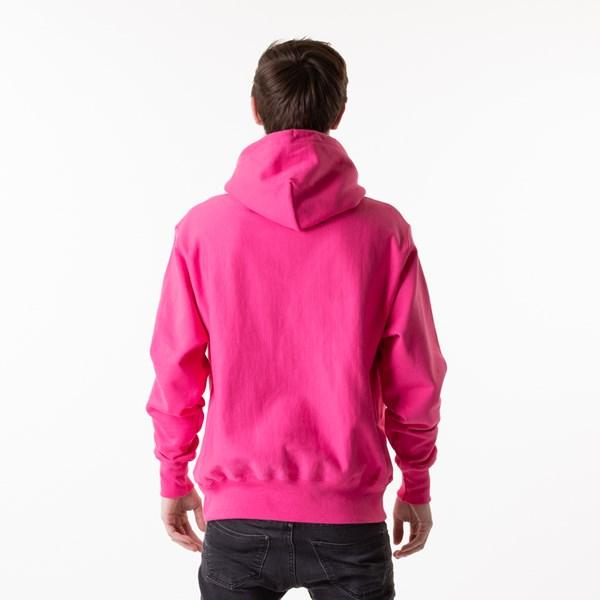 Alternate view of Mens Champion Reverse Weave Hoodie - Reef Pink