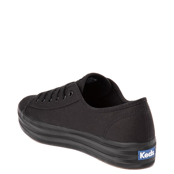 alternate view Womens Keds Triple Kick Platform Casual Shoe - BlackALT2