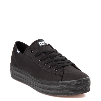 Alternate view of Womens Keds Triple Kick Platform Casual Shoe - Black