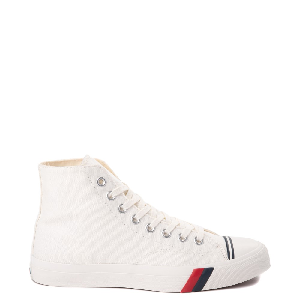 Mens PRO-Keds Royal Hi Sneaker - White