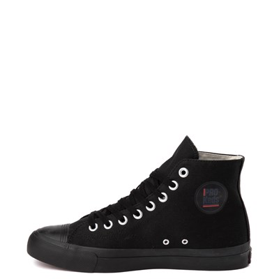 Alternate view of Mens PRO-Keds Royal Hi Sneaker - Black / Black