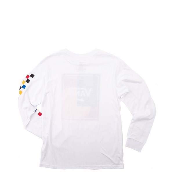 Alternate view of Vans Kalido Color-Block Long Sleeve Tee - Little Kid - White / Multi