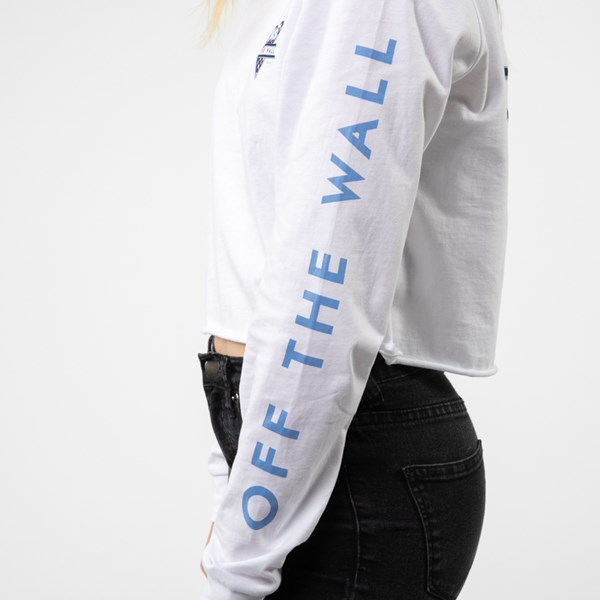 alternate view Womens Vans Particulate Cropped Long Sleeve Tee - WhiteALT5