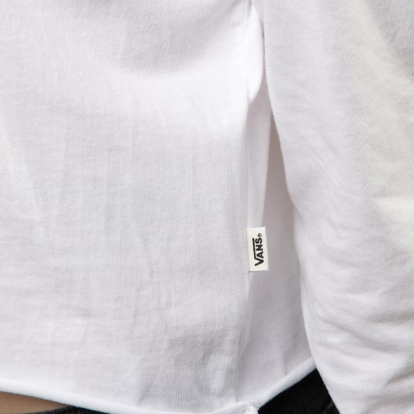 alternate view Womens Vans Particulate Cropped Long Sleeve Tee - WhiteALT7