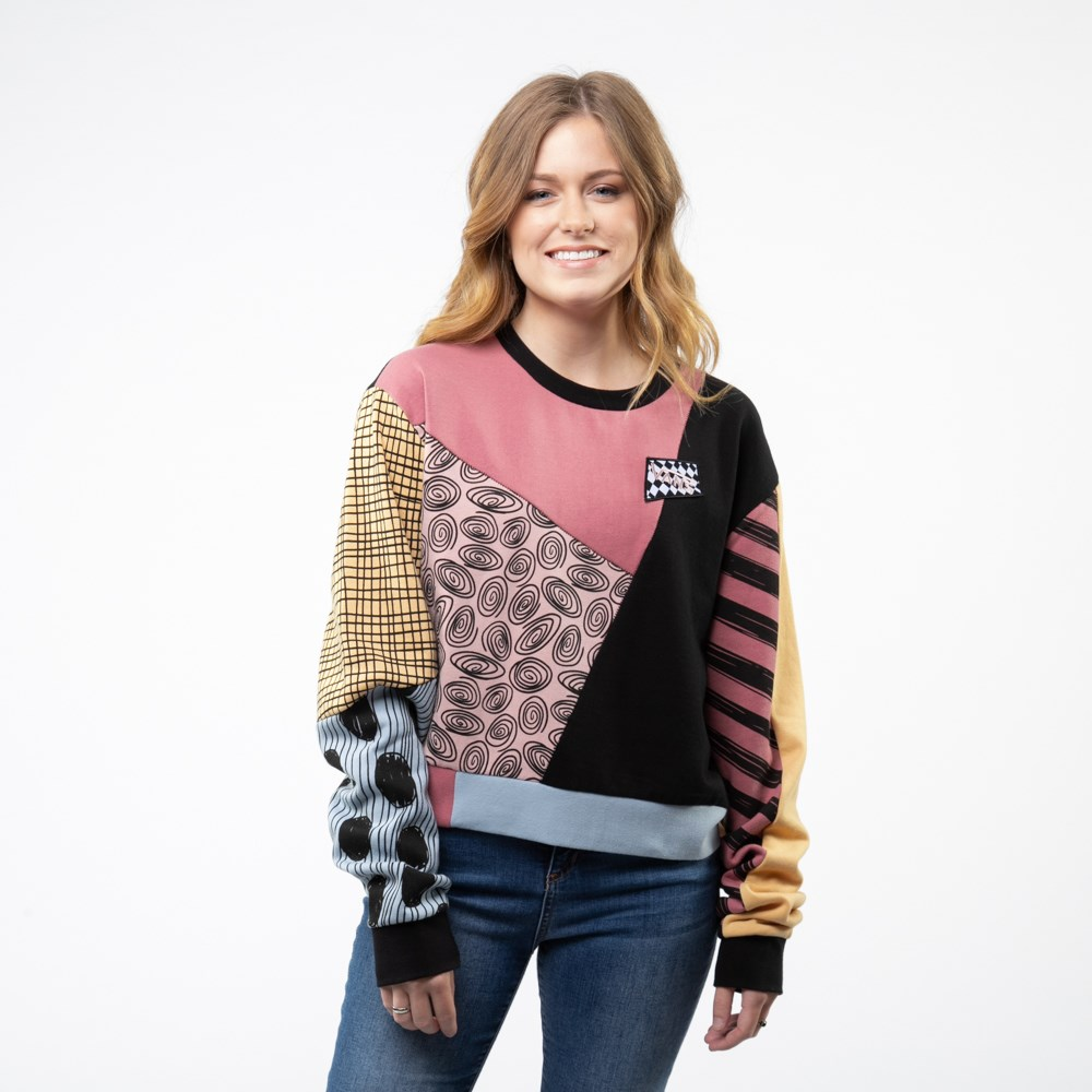 Womens Vans x The Nightmare Before Christmas Sally Crew Sweatshirt - Multi