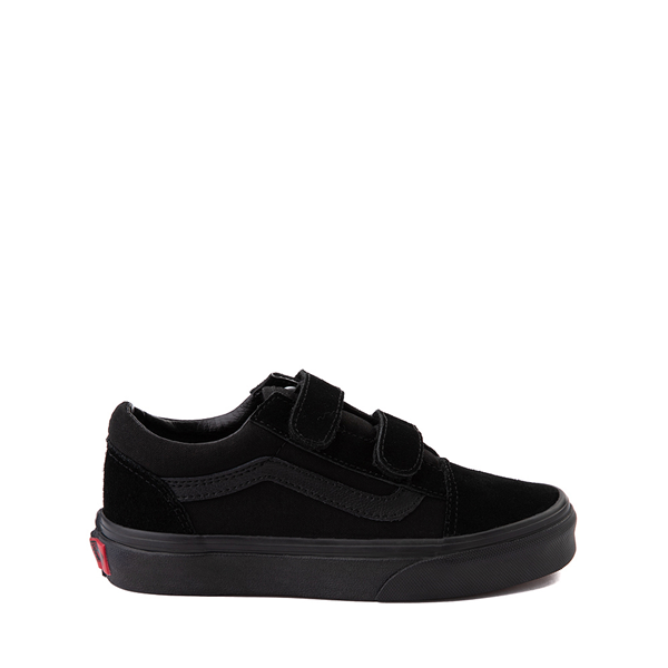 Default view of Vans Old Skool V Skate Shoe - Little Kid - Black Monochrome