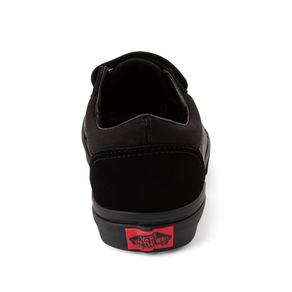 alternate view Vans Old Skool V Skate Shoe - Little Kid - Black MonochromeALT4