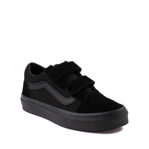 alternate view Vans Old Skool V Skate Shoe - Little Kid - Black MonochromeALT5