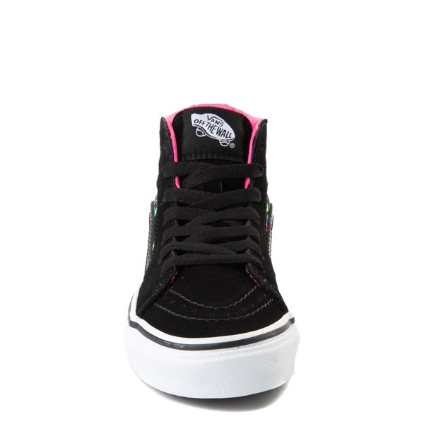 alternate view Vans Sk8 Hi Paint Splatter Skate Shoe - Little Kid / Big Kid - Black / MultiALT4
