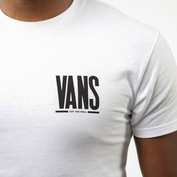 alternate view Mens Vans Stack Tee - WhiteALT4