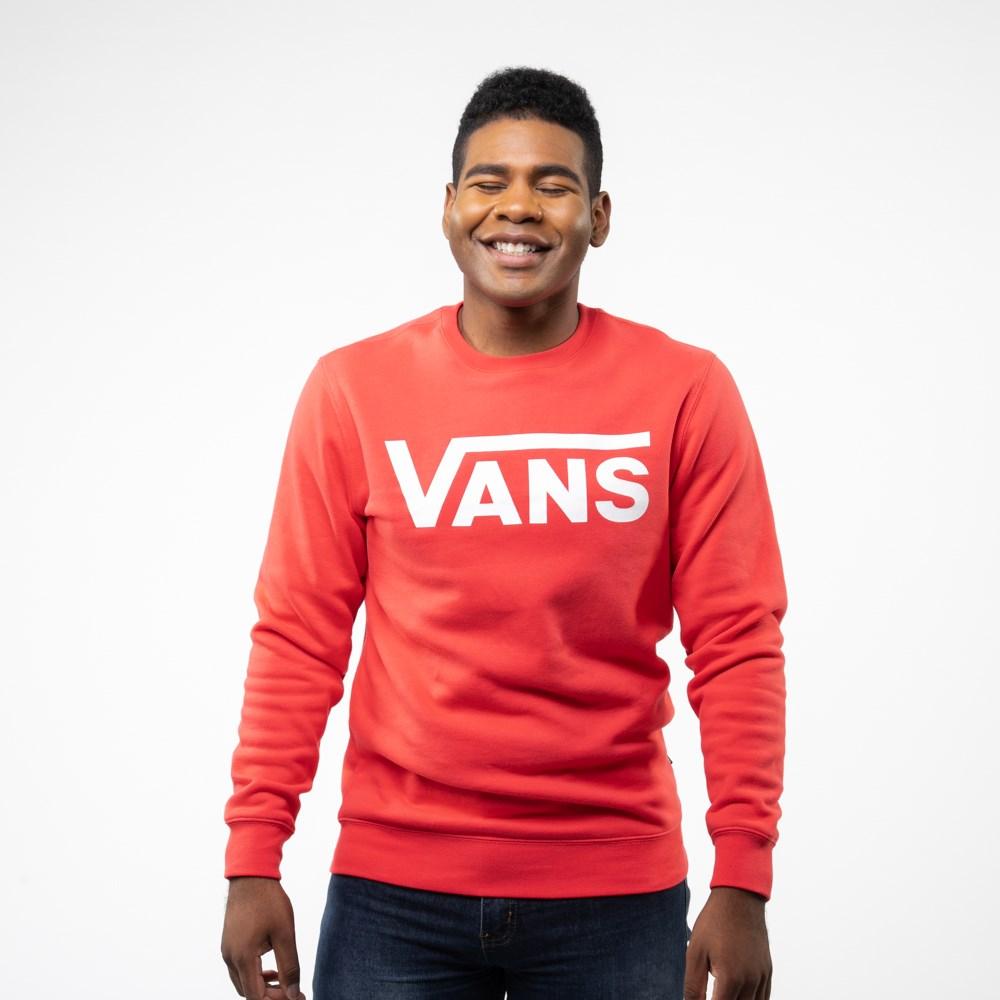 Mens Vans Classic Drop V Crew Sweatshirt - Hibiscus