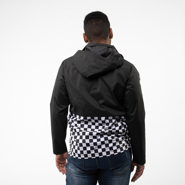 alternate view Mens Vans Checkerboard Anorak Jacket - BlackALT1