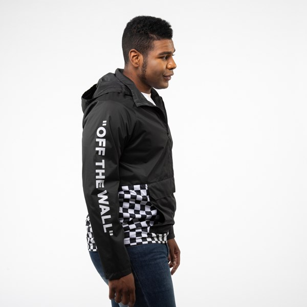 alternate view Mens Vans Checkerboard Anorak Jacket - BlackALT3