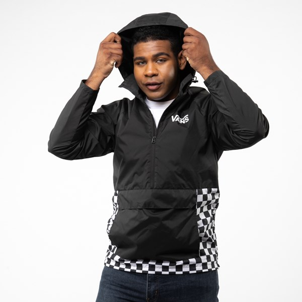 alternate view Mens Vans Checkerboard Anorak Jacket - BlackALT5