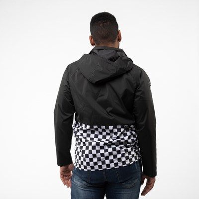 Alternate view of Mens Vans Checkerboard Anorak Jacket - Black