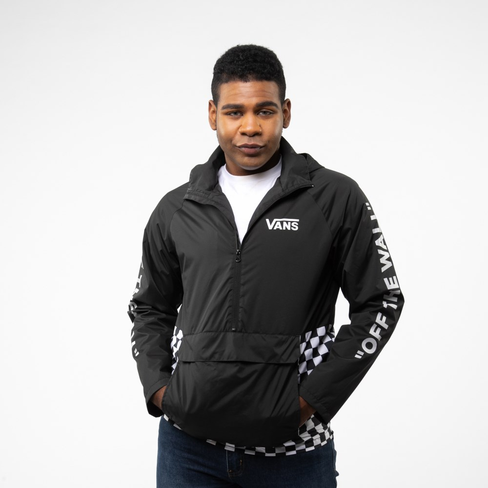 Mens Vans Checkerboard Anorak Jacket - Black