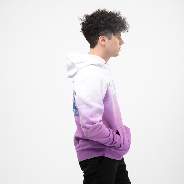 alternate view Mens Vans Hi-Point Dip-Dye Hoodie - Dewberry PurpleALT3