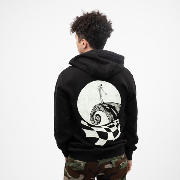 Main view of Mens Vans x The Nightmare Before Christmas Jack Skellington Hoodie - Black