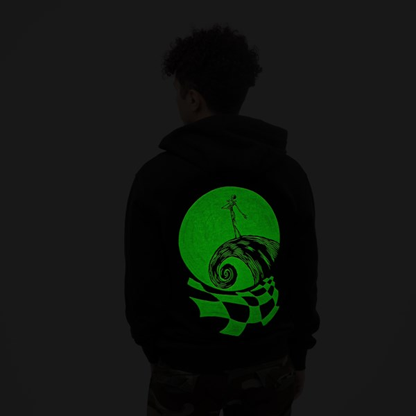 alternate view Mens Vans x The Nightmare Before Christmas Jack Skellington Hoodie - BlackALT1