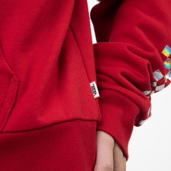alternate view Womens Vans Shine It Cropped Hoodie - Chili Pepper / IridescentALT4
