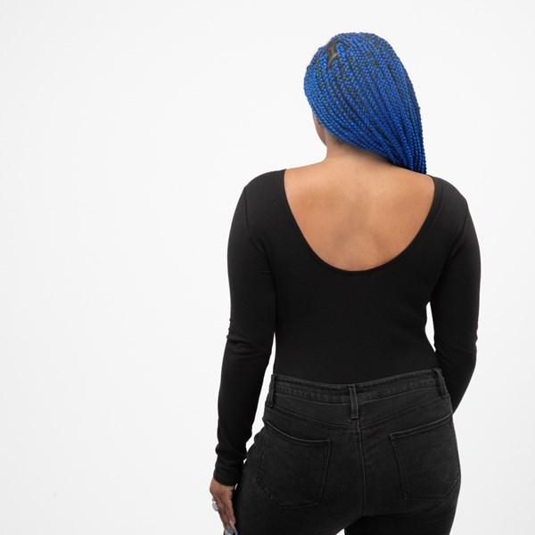 alternate view Womens Vans Classic Drop V Long Sleeve Bodysuit - BlackALT1