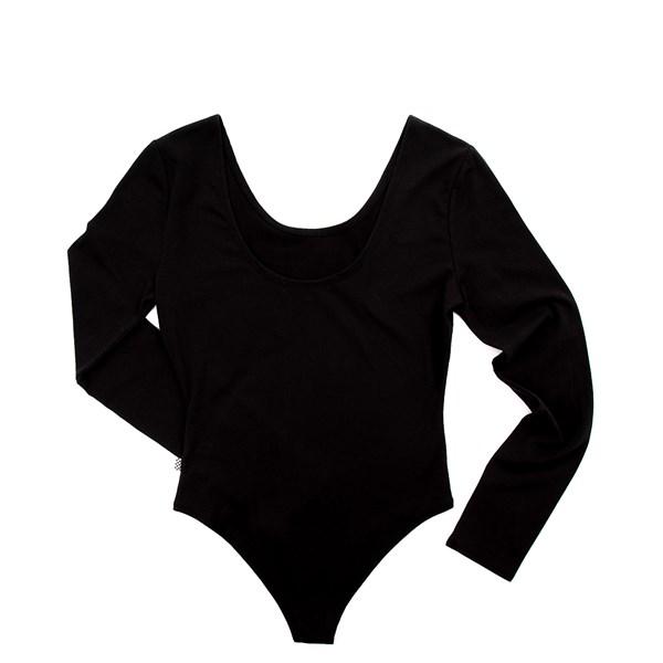 alternate view Womens Vans Classic Drop V Long Sleeve Bodysuit - BlackALT5