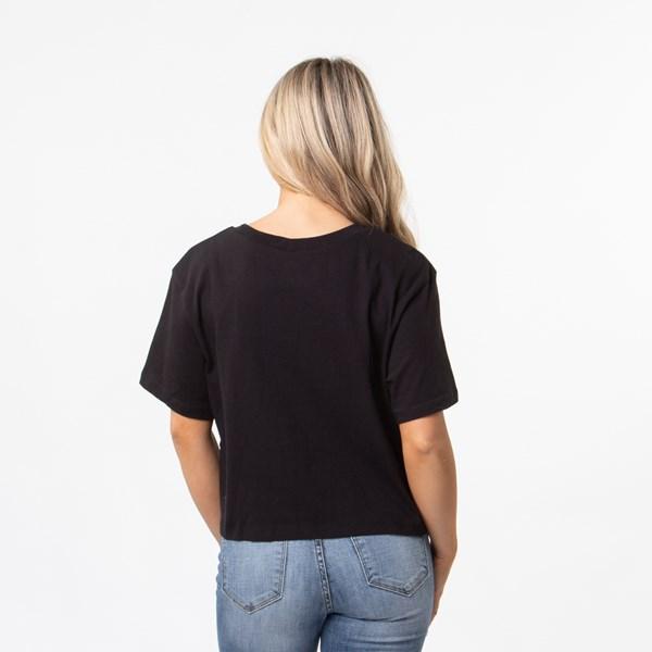 alternate view Womens Vans Shine It Cropped Tee - Black / IridescentALT1B