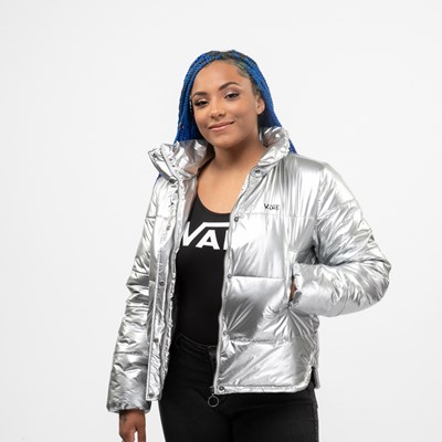 Main view of Womens Vans Galactic Spiral Jacket - Silver