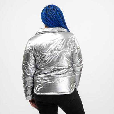 Alternate view of Womens Vans Galactic Spiral Jacket - Silver