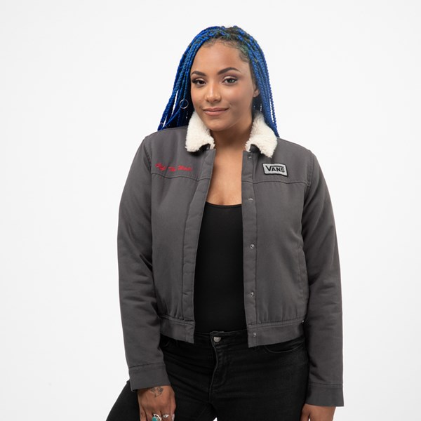 Womens Vans Oil Change Jacket - Asphalt