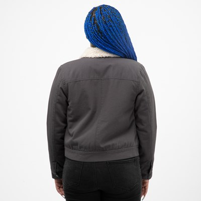 Alternate view of Womens Vans Oil Change Jacket - Asphalt