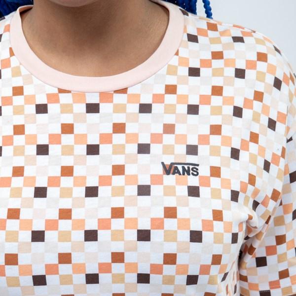 alternate view Womens Vans Breast Cancer Awareness Boyfriend Tee - White / MultiALT4
