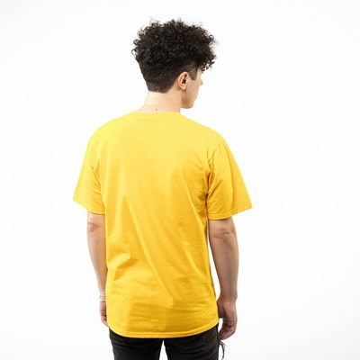Alternate view of Mens Fila Stacked Tee - Gold