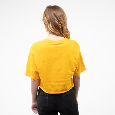 Alternate view of Womens Fila Cropped Tee - Gold