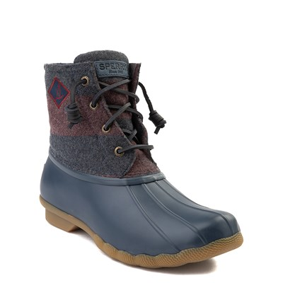 Alternate view of Womens Sperry Top-Sider Saltwater Varsity Duck Boot - Navy / Wine