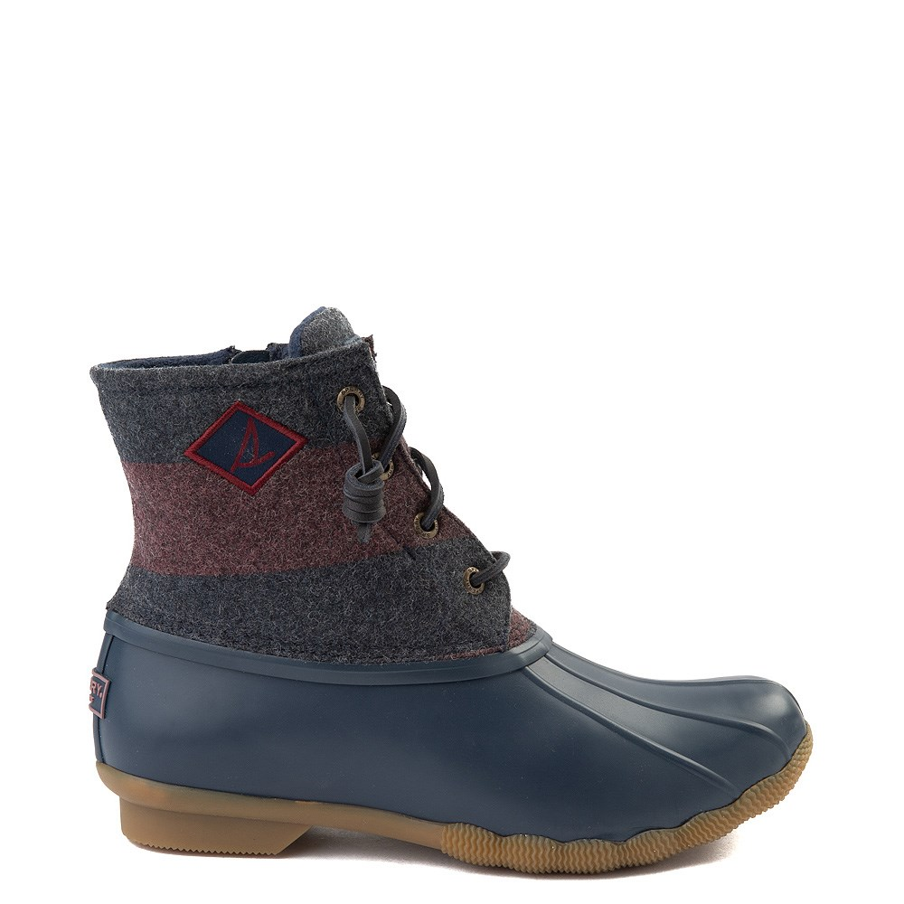 Womens Sperry Top-Sider Saltwater Varsity Duck Boot - Navy / Wine